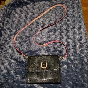 Black and Pink Guess shoulder bag